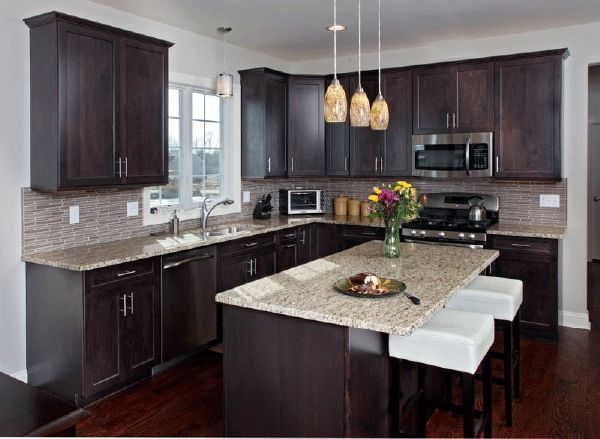 Beautiful How To Pair Countertop Colors With Dark Cabinets