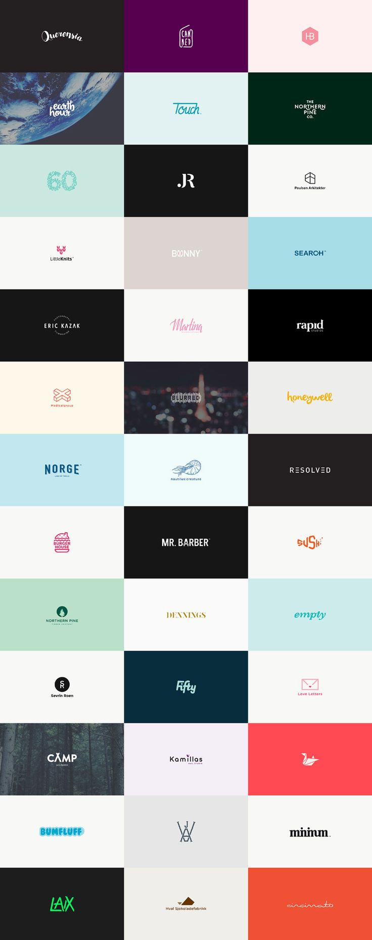 60 logos in 60 days by Karoline Tynes, a freelance graphic designer from Oslo, Norway. The collection includes diverse typography as well as illustrative and graphic work.
