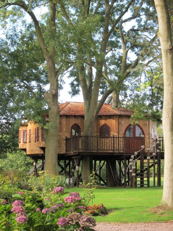 Luxury treehouse tree houses pinterest trees a tree for Treeless treehouse