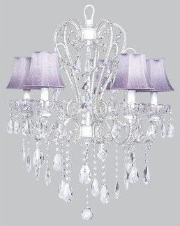Lavender Chandelier ~ ambience for Powder Room, Bathroom or Bedroom ✿ڿڰۣ