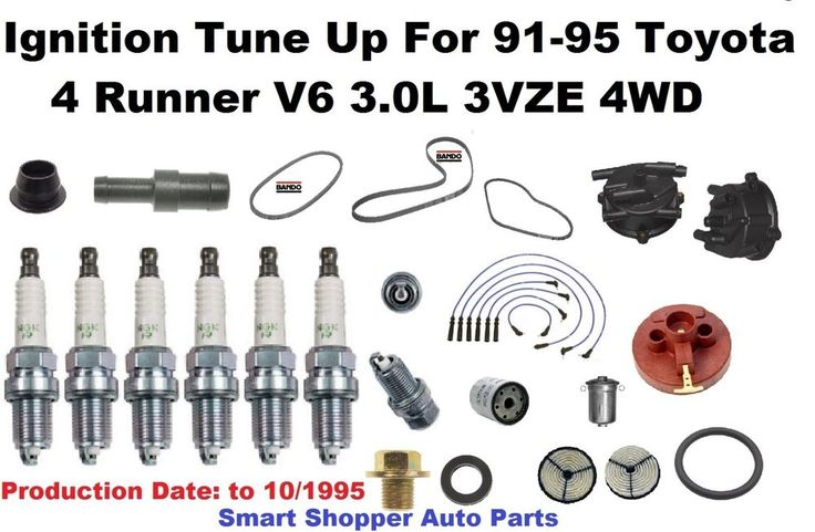 Ignition Tune Up For 1991-1995 Toyota 4 Runner 4WD V6 OES NGK Spark Plug, Belt #AftermarketProducts