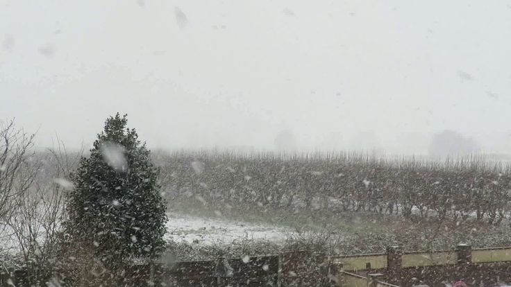 Heavy snow falling on  Irlam, 27th February 2018