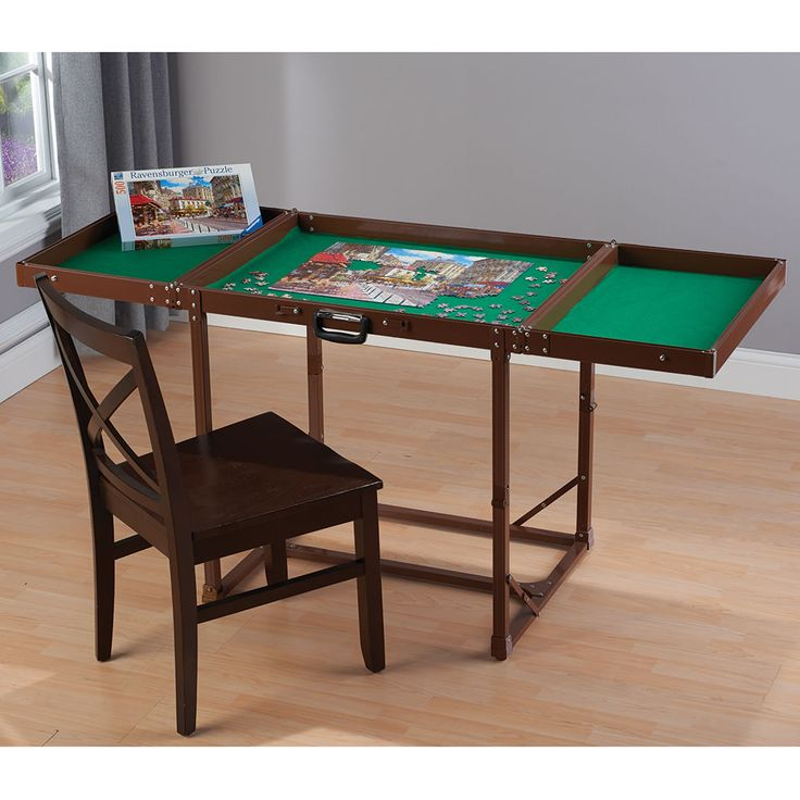 The Easy Fold And Store Puzzle Table   Hammacher Schlemmer