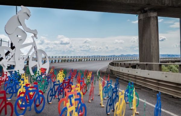 Opération de la marque de peinture Resen qui active son partenariat avec Urbis Design Day