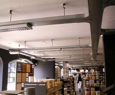 Exposed Cable Tray Ceiling