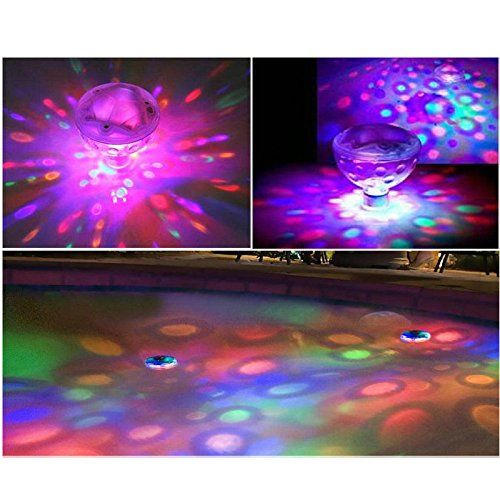 AGPtek Aqua Glow LED Water Floating Disco Ball Light Lamp For Show Swimming Pool Pond Spa