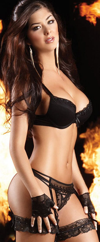 Babe In Black Lingerie 59
