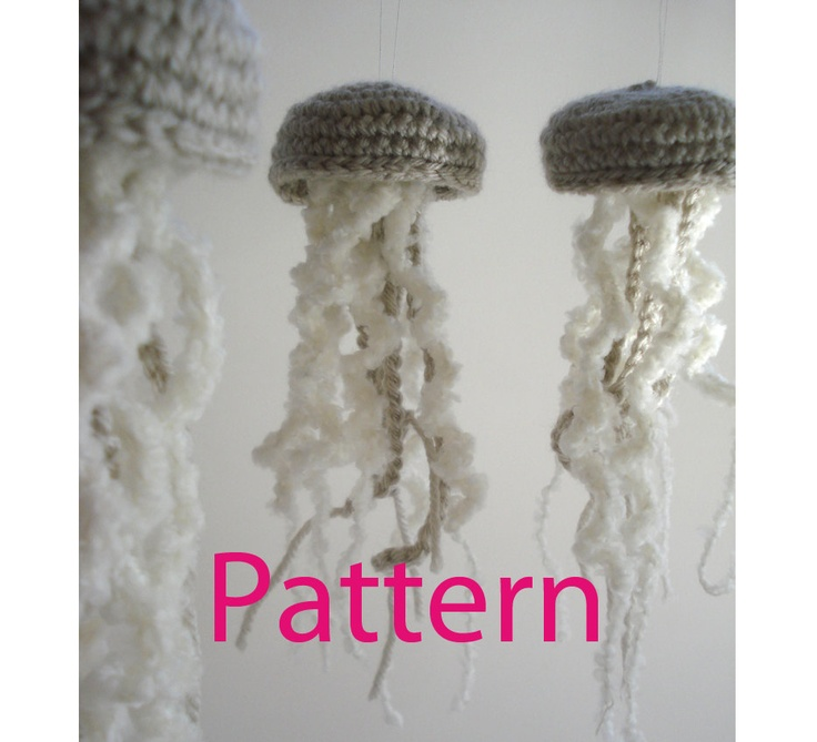 Jellyfish Ornament Amigurumi Crochet Pattern by Lazymuse on Etsy--$5 ...