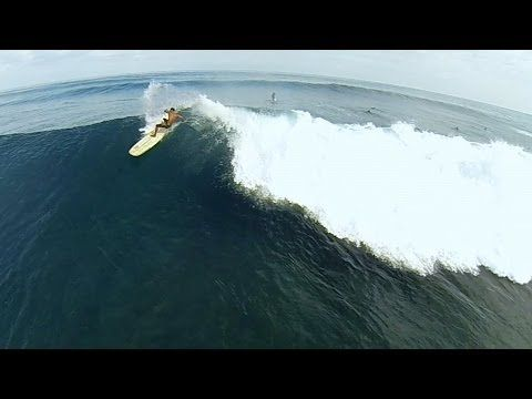GoPro: SUP And A Drone - North Shore Oahu  Published on Jun 24, 2014 Justin Edwards flies his drone just feet from surfer,