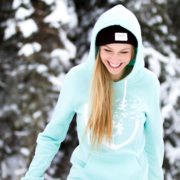 Blossom Hoodie Sky Blue - ten trees planted for every item purchased.