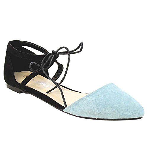 Gema para mujer Lucinda Lace Up Ballet Flat Carmel Size 7 TouTmN0d