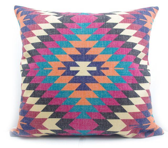 Haut de gamme numérique imprimer pourpre d'origine Turque kilim diamant motif taie d'oreiller housse de coussin pour chaise décoration de la maison jeter