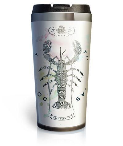 Оригинальный принт на основе авторского рисунка ручной работы для термокружки Lobster из серии Salt Club 76. Дизайнерский тамблер в морском стиле выполнен в модной технике дудлинг. Огромный лобстер педантично отрисован со всеми деталями. Станет желанным подарком для мальчиков и девочек, дядинек и тётинек, солидных мужчин и раскошенных женщин.  #термокружка #кружка_термос #тамблер #принт #морской_стиль #lobster