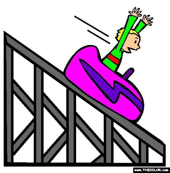 Roller Coaster Coloring Page | Boats Cars Trucks Airplanes ...