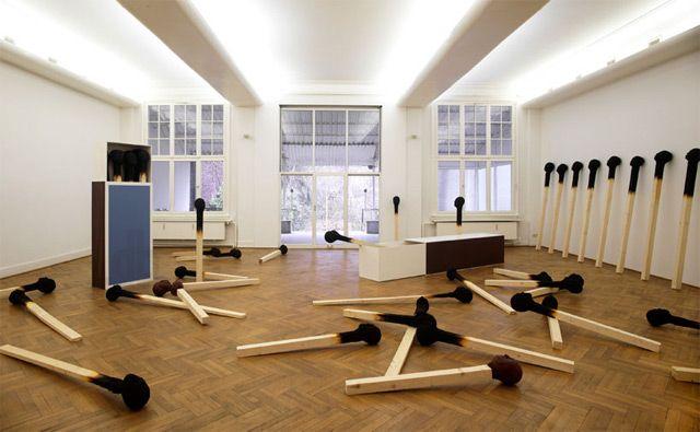 Matchstickmen: Burnt Matches Resembling Charred Human Heads by Wolfgang Stiller