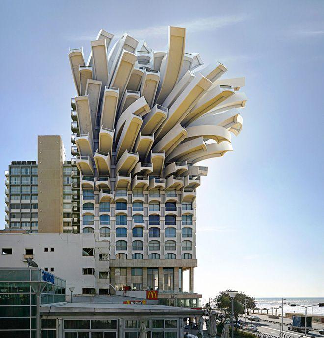 テルアビブの建築家によるビル。漫画みたい。