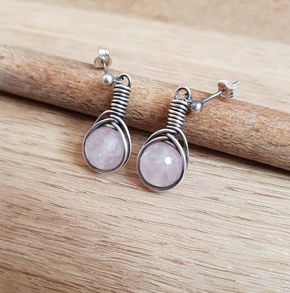 Check out this item in my Etsy shop https://www.etsy.com/uk/listing/565104817/rose-quartz-earrings-wire-wrap-rose