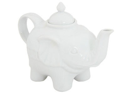 Elephant by Zappos  a white elephant teapot?  I almost need one. :)
