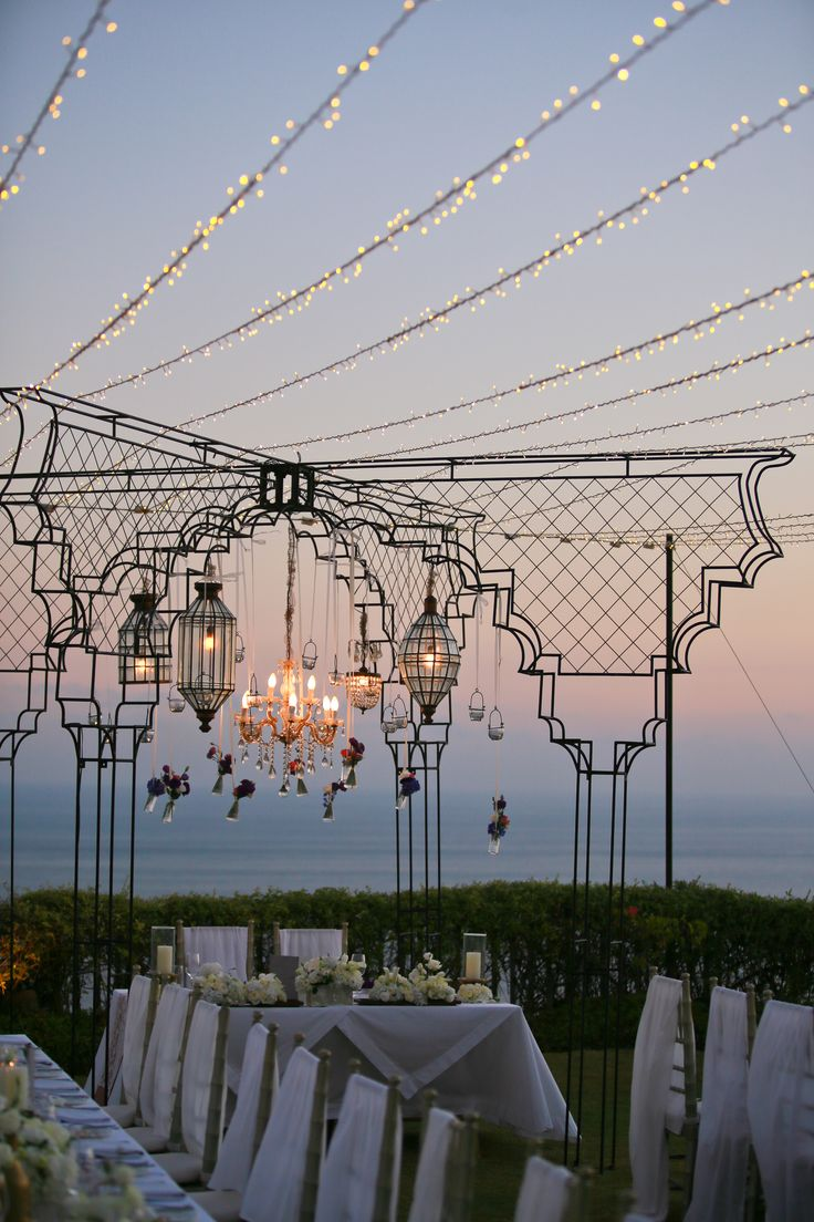Cliff Top Garden in dusk by Tirtha Bridal Uluwatu Bali