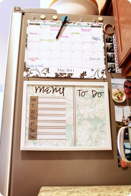home organization (menu/to do how to frame) and I also love that monogram letter magnet!!