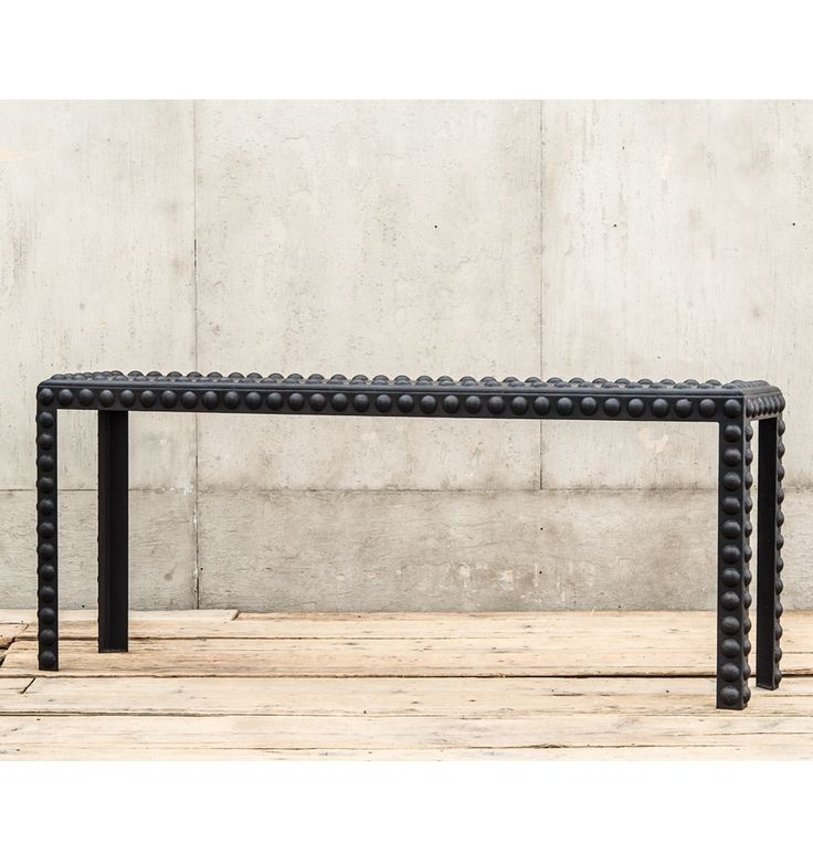 Industrial Metal Dome Rivet Console Table