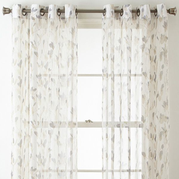 Home Expressions Shiloh Grommet Top 2 Pack Curtain Panels Home Additions Home Small Apartment Decorating
