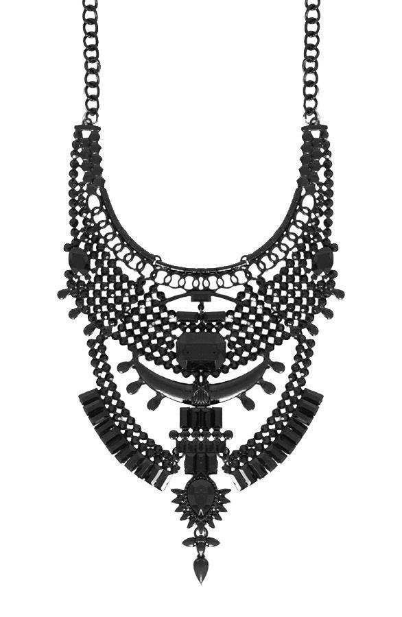 Statement Necklace All Black | The Musthaves Grote ketting bestellen? Zwarte statement collier koop je goedkoop online! Grote kettingen sieraden shoppen!