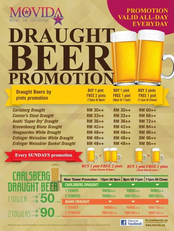 MOVIDA Happy Hour Promotions ~ Daily@All MOVIDA outlets