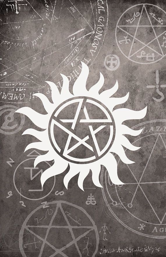 Anti possession supernatural wallpaper for iPhone