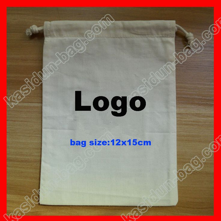 (2000pcs/lot) size 12X15cm personalized blank cotton drawstring bag logo