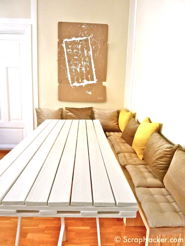 DIY Dining Room Table With Seating
