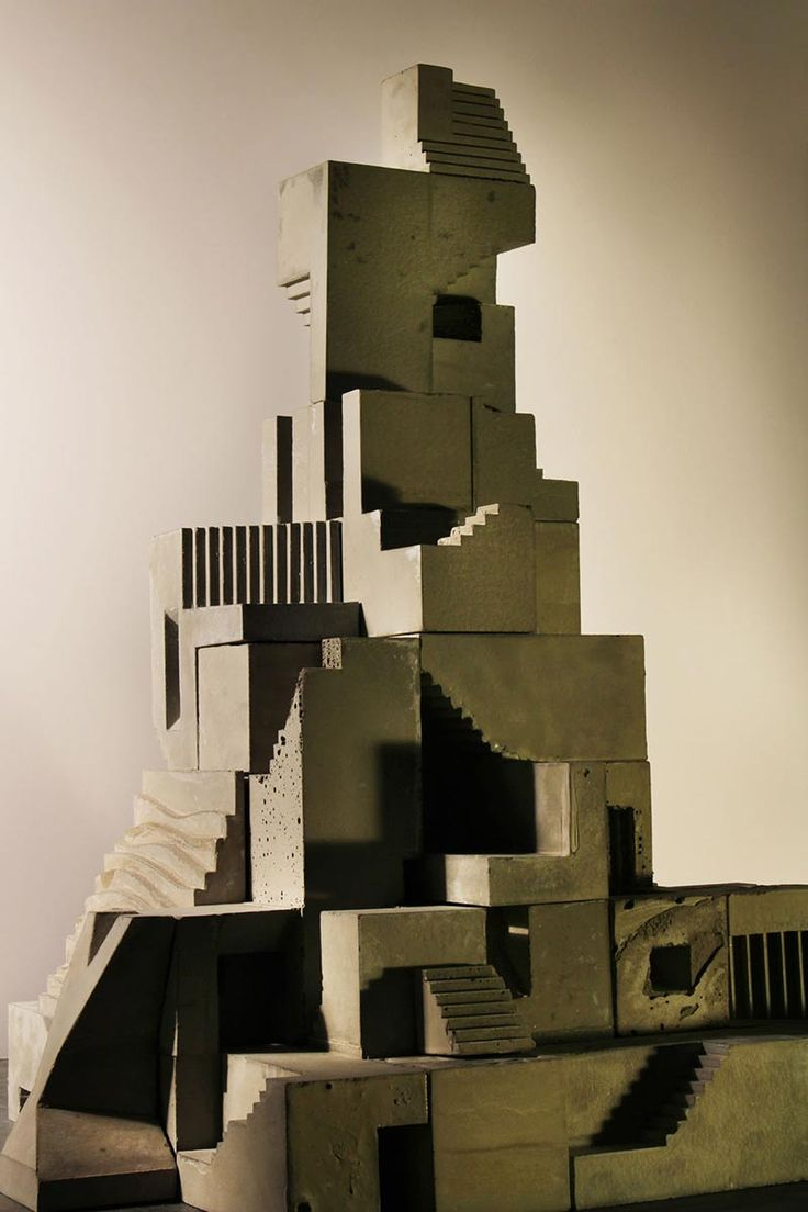 """Concrete Modular Cities by David Umemoto This sculpture is gaint brutalist architecture reduced to cubes """"that can be combined with others to create cities, or surreal places."""".   http://mocosubmit.com/brutalist-sculpture-by-david-umemoto/?utm_content=bufferecf43&utm_medium=social&utm_source=twitter.com&utm_campaign=buffer"""