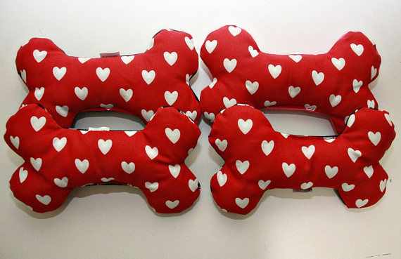 Valentine S Day Squeaky Bone Dog Toy Dog Toys Toys Dogs