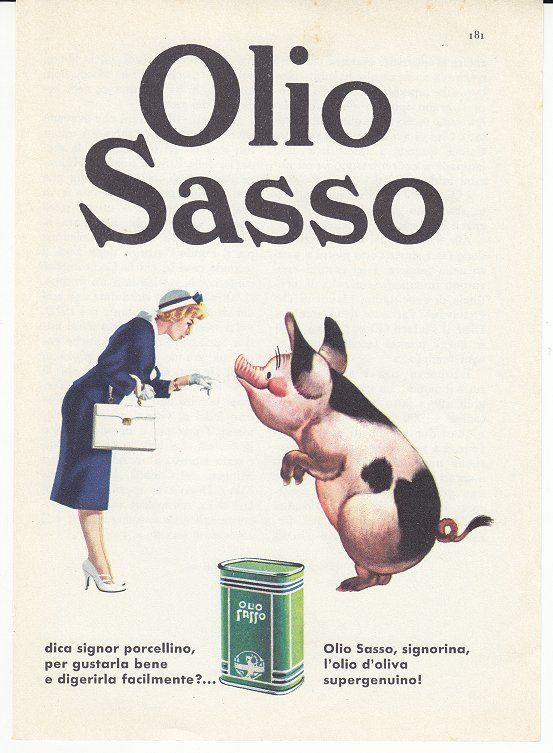 OLIO SASSO MARZO 1960 PUBBLICITA´ ADV ADVERTISING