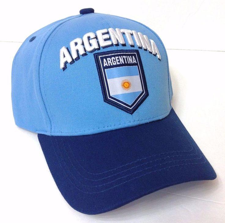 New ARGENTINA HAT Light&Navy-Blue Argentinian Flag of Country Nation Men/Women #Rhinox #BaseballCap