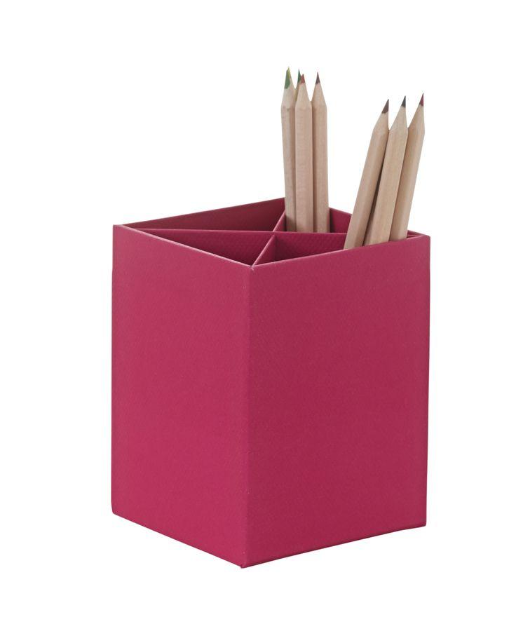 Pen cup hot pink
