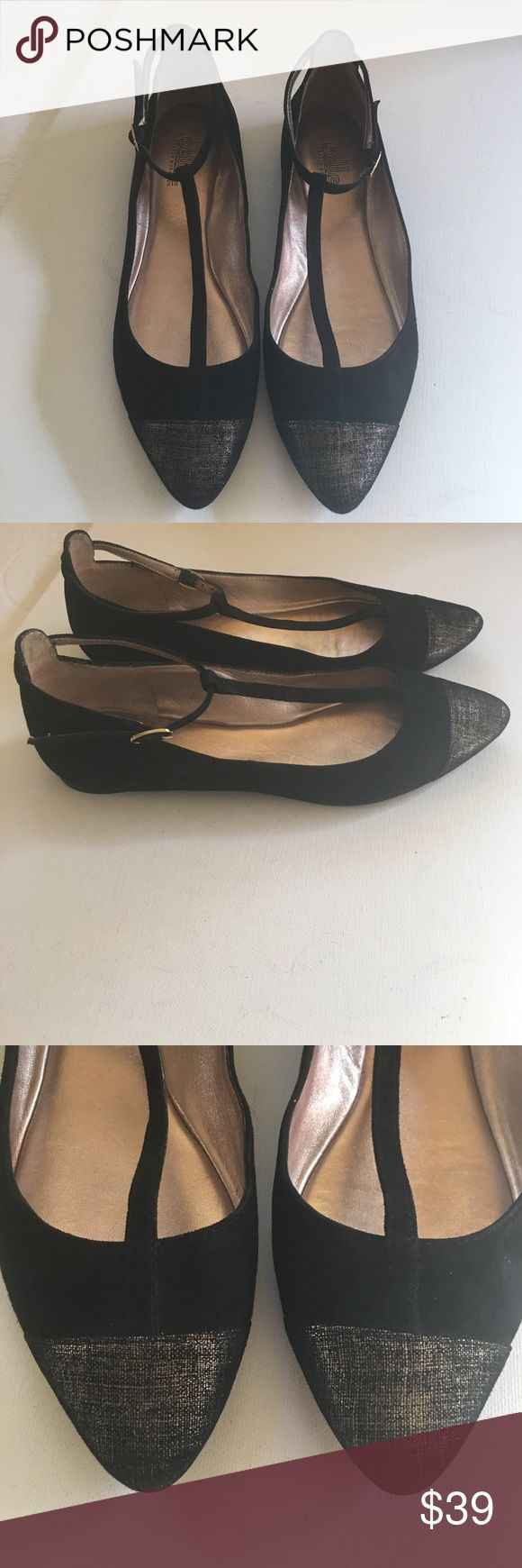 Sigerson Morrison Veasna Mary Jane Flats Sigerson Morrison Veasna Mary Jane Flats ~ size 7 ~ worn but in SUPER condition ~ Black with golden toe 🤗☀️ Belle by Sigerson Morrison Shoes Flats & Loafers