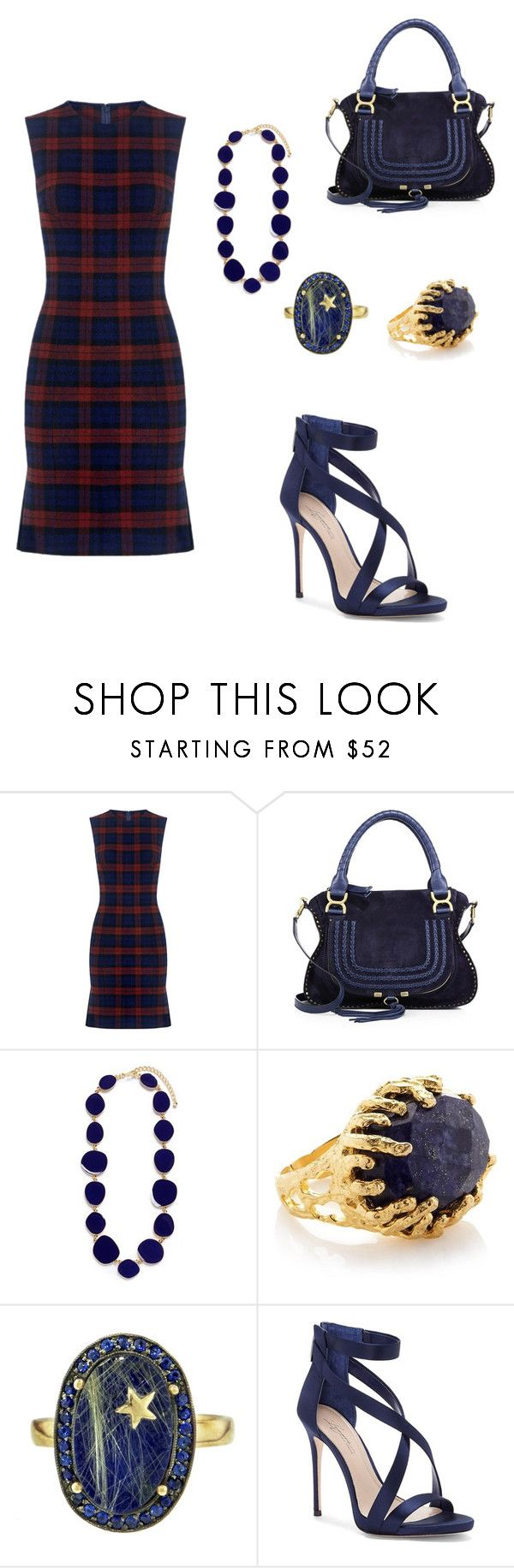 """""""Blue flannel"""" by mrsagosto ❤ liked on Polyvore featuring 10 Crosby Derek Lam, Chloé, Kenneth Jay Lane, Ottoman Hands, Andrea Fohrman and Imagine by Vince Camuto"""
