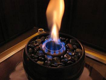 Tabletop fireplace - ethanol burner - dollhouse - miniature display cases