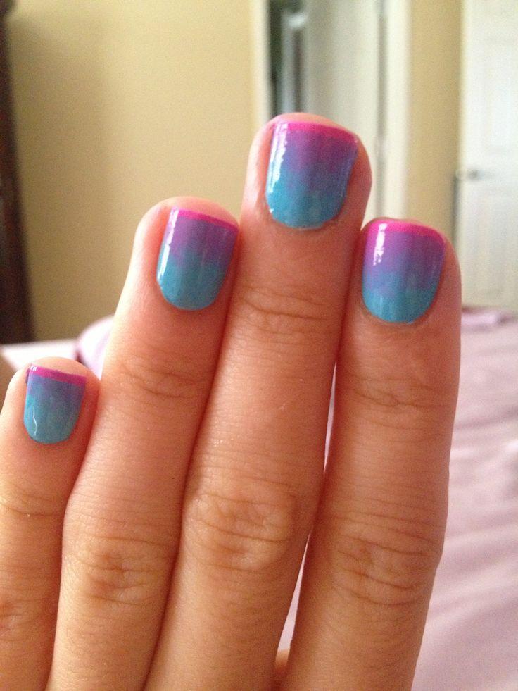 Two tone nail polish - 59 Best Nail Designs Images On Pinterest Make Up, Summer Nails
