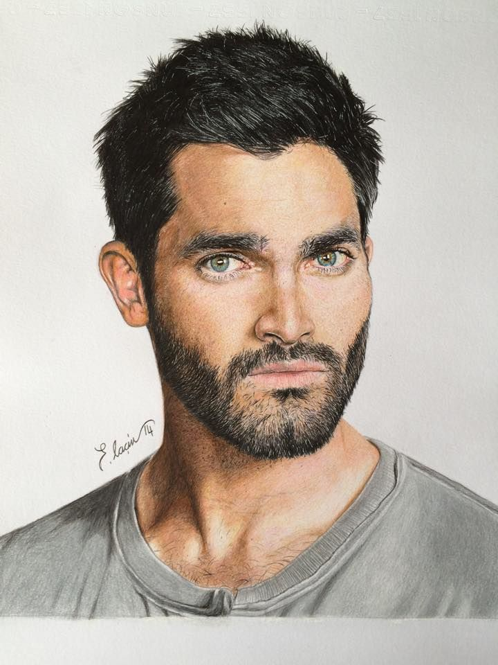 Color Drawing - Teen Wolf ( Tyler Hoechlin ) by ErenLACIN.deviantart.com on @DeviantArt