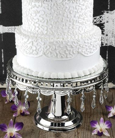 another great find on zulily silver wedding cake stand zulilyfinds