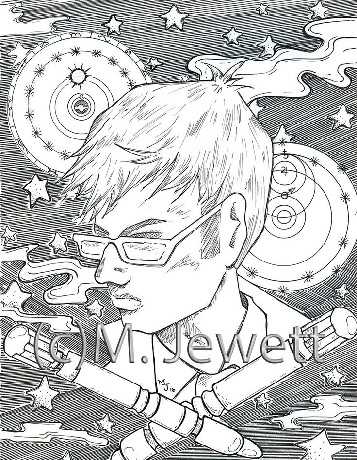 Doctor Who Tenth David Tennant Adult Coloring Page Megan Jewett 2016