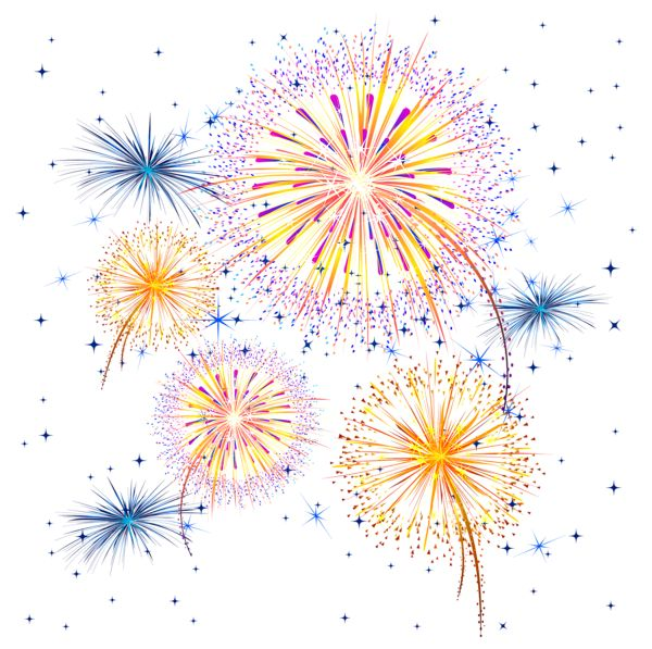 Firework Show PNG Clipart Image