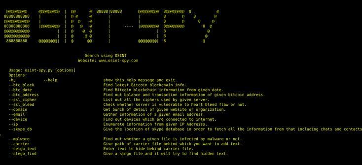 OSINT-SPY – an Open Source Intelligence-Gathering. – Security List Network™
