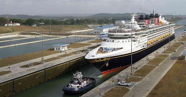 Disney Wonder Makes Panama Canal History Carnival Cruise Line - Carnival cruise ship history