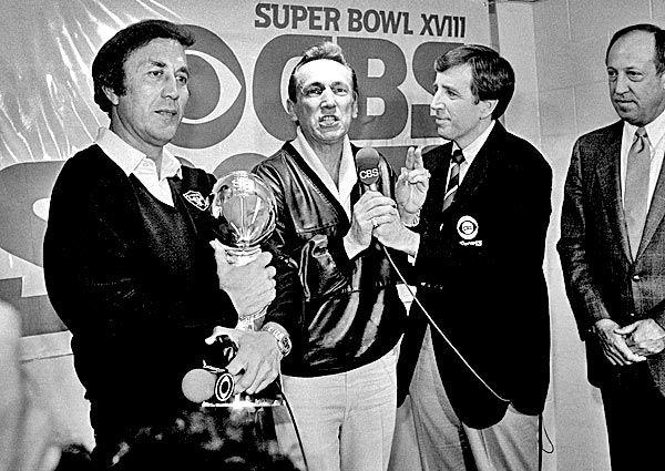 Super Bowl XVIII - January 22, 1984 - Al Davis & Tom Flores (1st Hispanic Head Coach to win the Super Bowl)