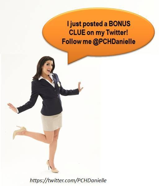 PCH Danielle Lam @PCHDanielle 2h  BONUS CLUE for tomorrow's $10,000 award! The capital of the winner's state is made up of 1 word. Next clue at 6PM ET on my FB page...