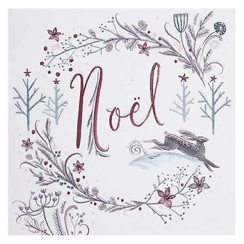 Designed by Amy Eastland for Paperlink : Painted Hare Christmas Card Online at johnlewis.com