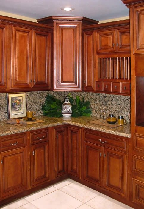 cherry kitchen cabinets | Cherry Kitchen Cabinets With New Concept The Elegant / Designs Ideas ...